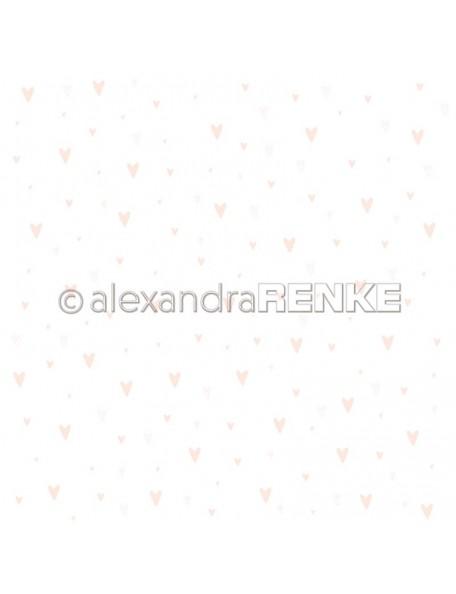 Alexandra Renke Cardstock una cara 30,5x30,5 cm, Baby rosa Herzen