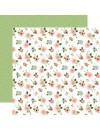 "Echo Park Baby Girl Cardstock de doble cara 12x12"", Newborn Floral"
