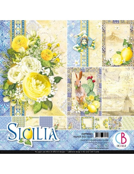 "Ciao Bella Pack de Cardstock doble cara 12""x12"", Sicilia"