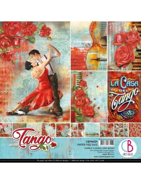 """Ciao Bella Pack de Cardstock doble cara 12""""x12"""", Tango"""