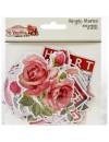 "Simple Vintage My Valentine Chipboard Pegatinas 6""X12"""