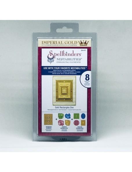 Spellbinders Nestabilities Enhancing Gold Rectangles 1 DESCATALOGADO