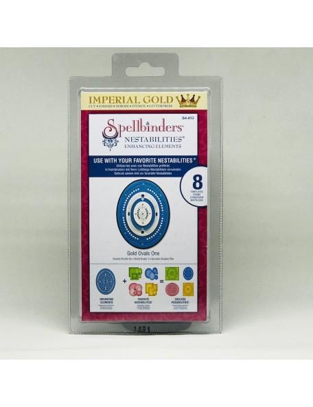 Spellbinders Nestabilities Enhancing Elements Troquel, Gold Ovals 1 DESCATALOGADO