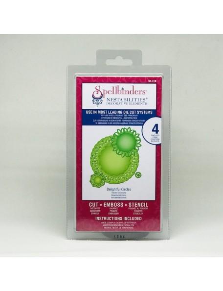 Spellbinders Nestabilities Decorative ElementsDies, Delightful Circles