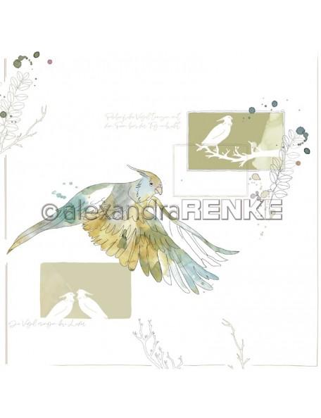 Alexandra Renke Paradies fliegender grüner Vogel