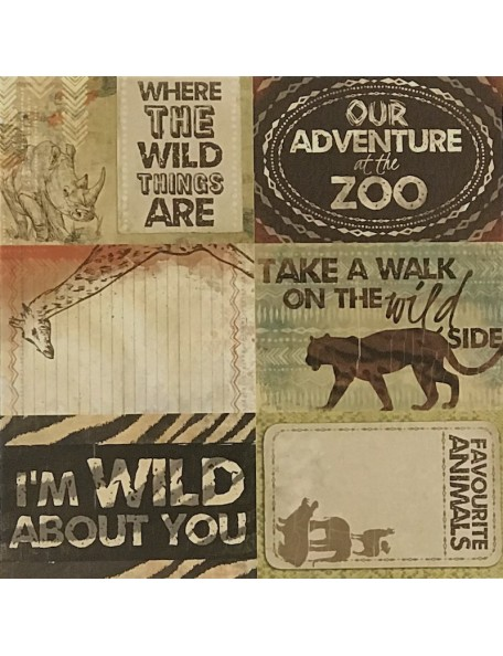 "Safari Paper - ""Into the wild"", Kaisercraft"