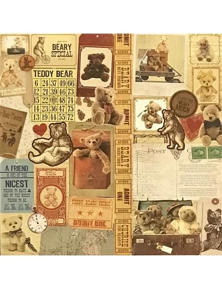 """Papel Teddy - """"Teddy Bear's Picnic"""", Kaisercraft"""