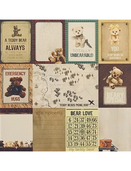 "Papel Bear Love - ""Teddy Bear's Picnic"", Kaisercraft"