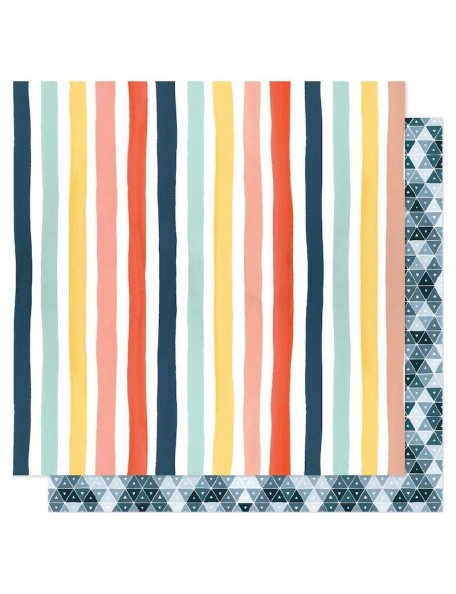 "Papel Sunshine Stripes - ""Saturday Afternoon"", One Canoe Two"