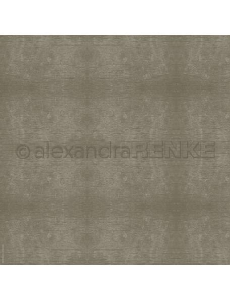 Alexandra Renke Papel Textura de madera Dark Wood Gray