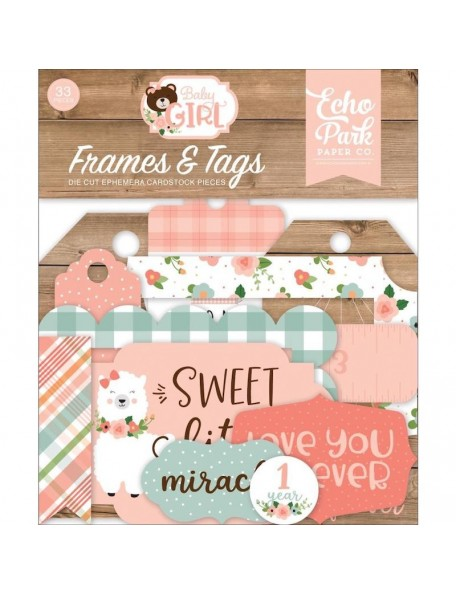 Echo Park Baby Girl Frames & Tags