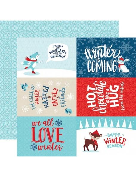 Echo Park Celebrate Winter, 4X6 Journaling Cards
