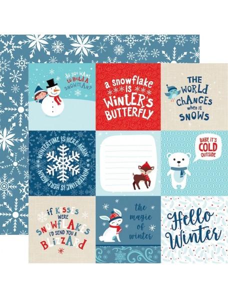 Echo Park Celebrate Winter, 4X4 Journaling Cards