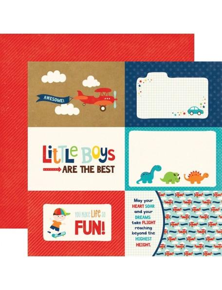 """Echo Park Little Man, Journaling Cards 4""""X6"""""""