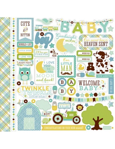 Echo Park Pegatinas Bundle Of Joy, Element Stickers