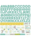 Echo Park Pegatinas Bundle Of Joy Boy, Alpha Stickers