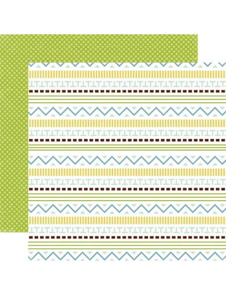 "Echo Park Bundle Of Joy/A New Addition Cardstock de doble cara 12""X12"", Baby Boy, Little Guy"