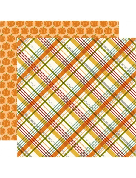 """Echo Park Fall Is In The Air Cardstock de doble cara 12""""X12"""", Sweather Weather"""