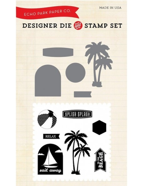 Echo Park Die & Stamp Combo Set Splish Splash