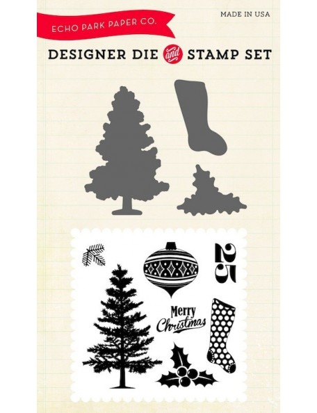 Echo Park Die & Stamp Combo Set, Tis The Season