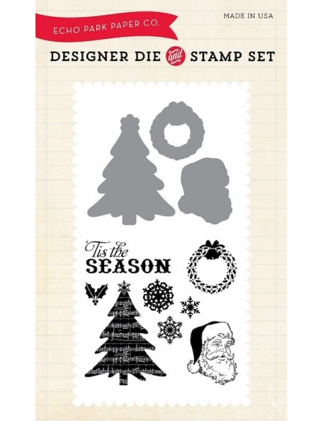 Echo Park Die & Stamp Combo Set, Classic Christmas