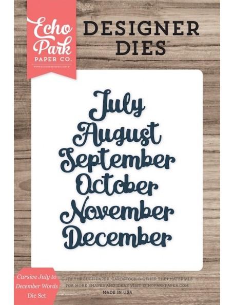 Echo Park Through The Year Months July - December, Troquel