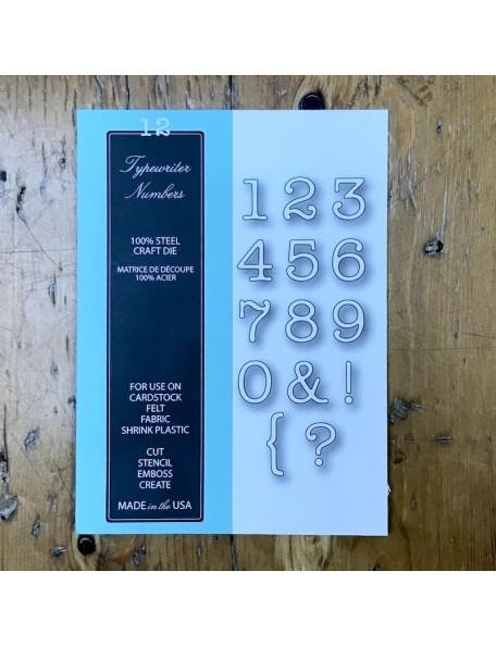 Memory Box Troquel, Typewriter Numbers