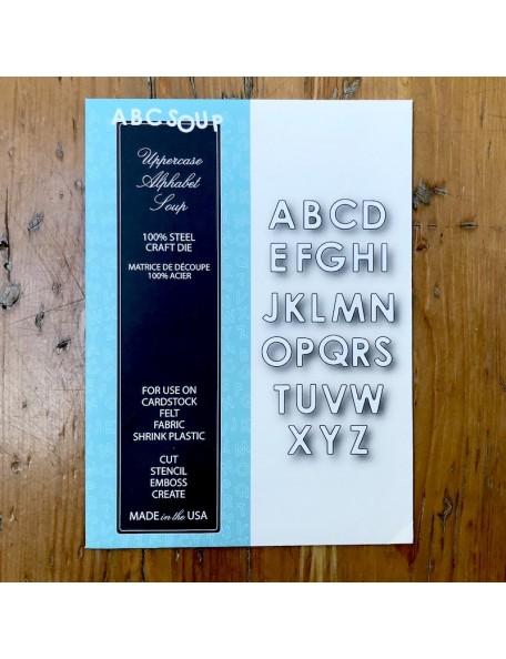 Memory Box Troquel Uppercase Alphabet Soup Style 99154