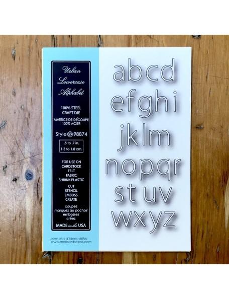 Memory Box Troquel Urban Lowercase Alphabet Style 98874