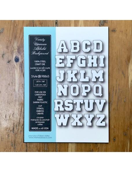 Memory Box Troquel Varsity Uppercase Alphabet Background Style 98865