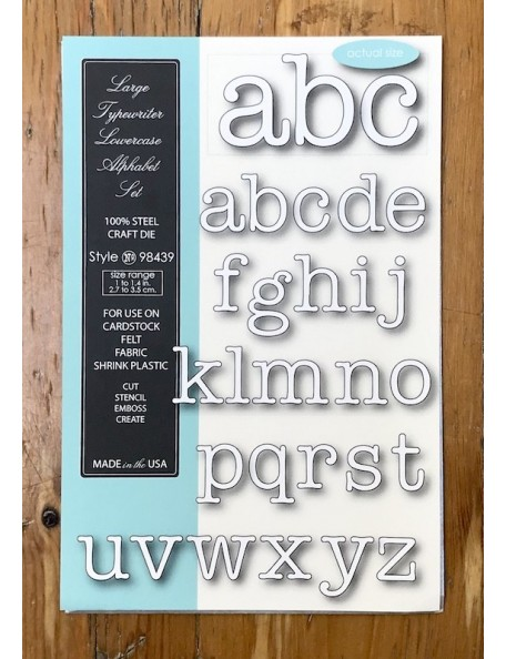 Memory Box Troquel Large Typewriter Lowercase Alphabet Style 98439