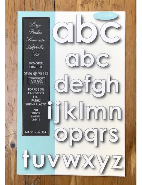 Memory Box Troquel Large Parker Lowercase Alphabet Style 98443