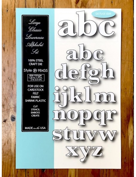 Memory Box Troquel Large Classic Lowercase Alphabet Style 98435