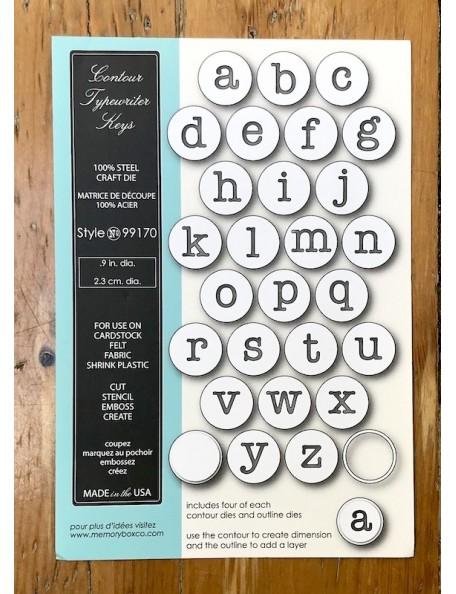 Memory Box Troquel Contour Typewriter Keys Style 99170