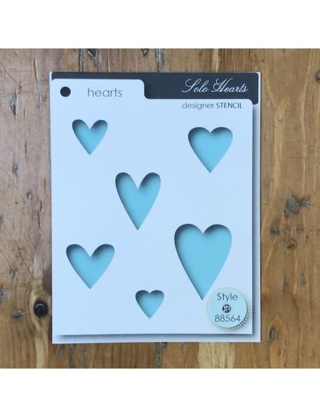 Memory Box Plantilla Solo Hearts Style 88564
