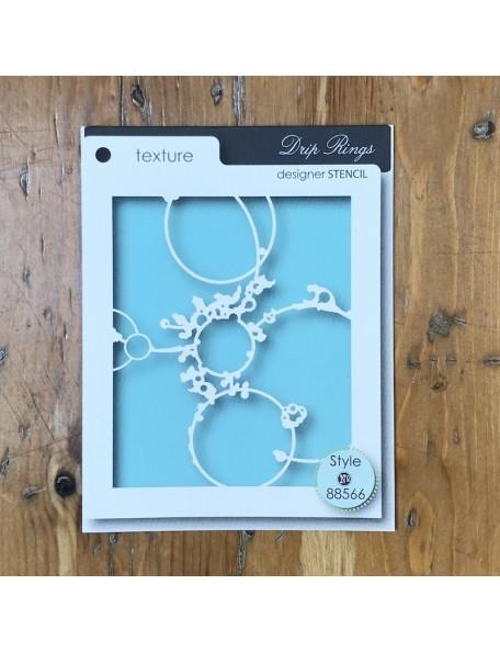 Memory Box Plantilla Drip Rings Style 88566