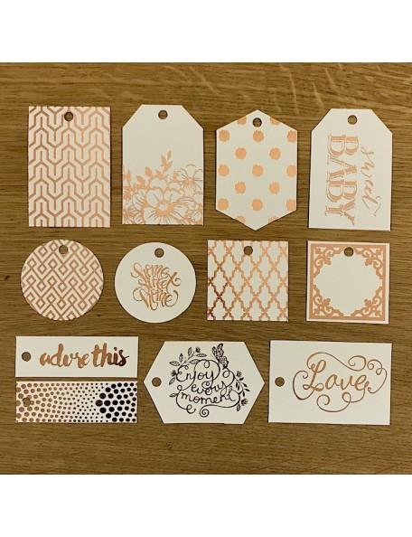 Prima Marketing Heaven Sent Resist Watercolor Tags & Tabs 11, con Foil