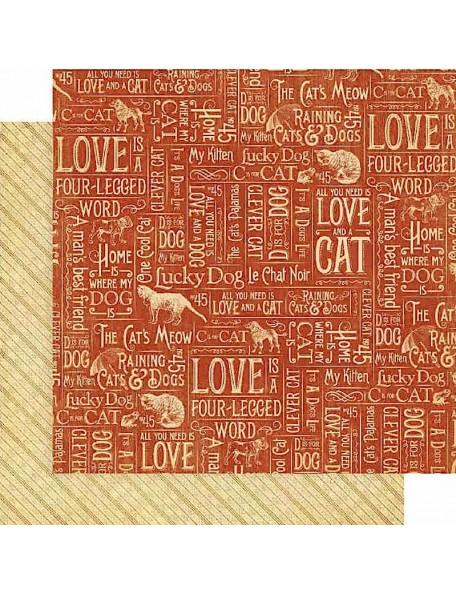 Graphic 45 Raining Cats & Dogs, Mischievous Menagerie