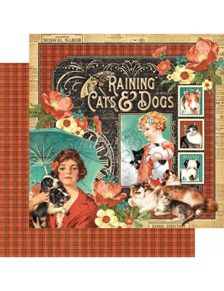 Graphic 45 Raining Cats & Dogs, Raining Cats & Dogs
