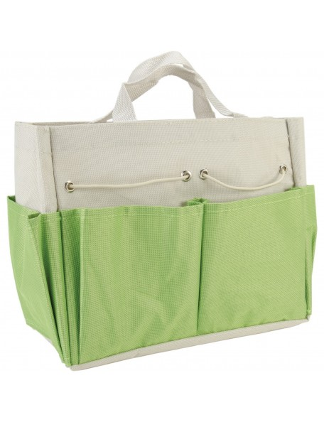 "Allary Project Tote 9.5""X8.5""X5"" Lime & Ecru"