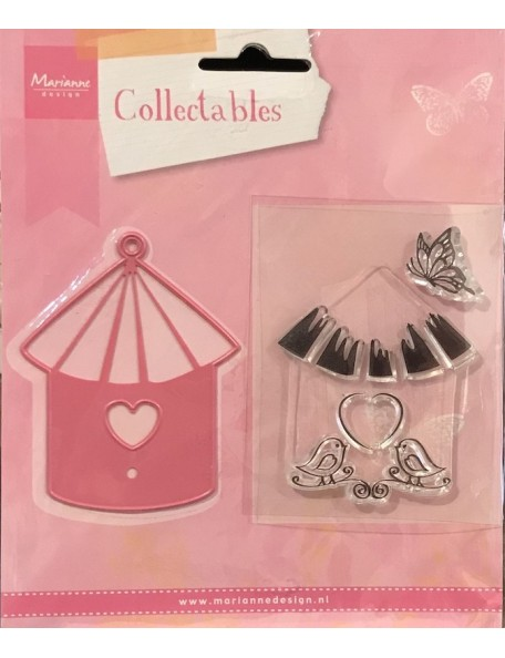 Marianne Design Collectables Casita con Pajaritos y Mariposa COL1310