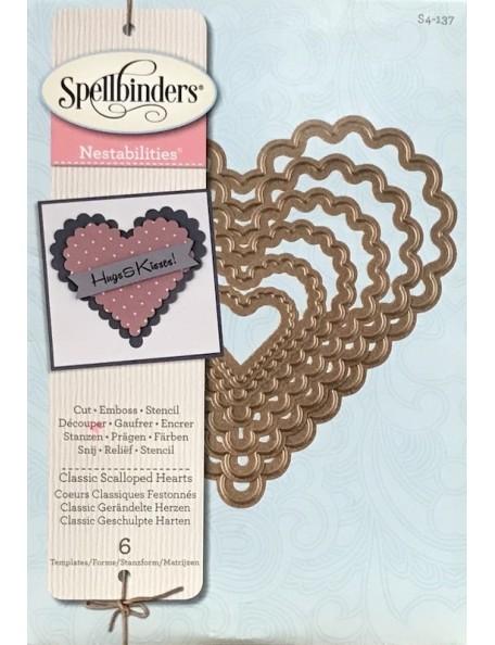 Spellbinders Nestabilities Dies Classic Scallop Hearts