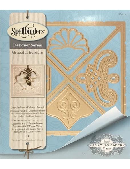 """Spellbinders Card Creator Die, Graceful 6""""X6"""" Frame Maker"""