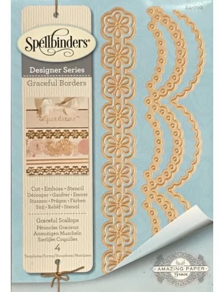 Spellbinders Card Creator Troquel/Die, Graceful Scallops