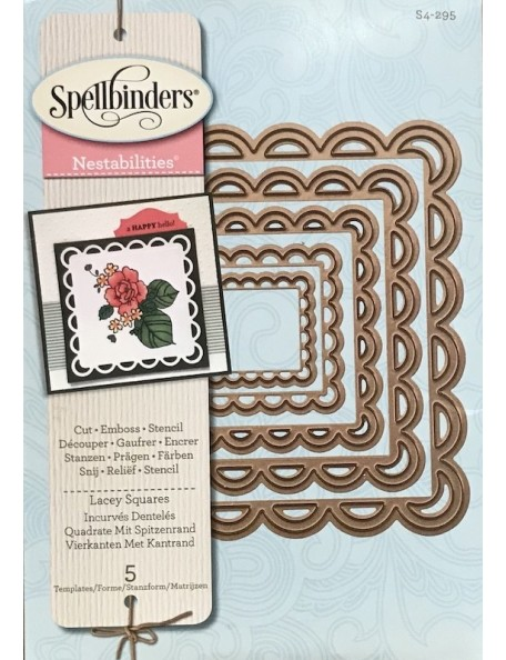 Spellbinders Nestabilities Decorative Elements Dies Lacey Squares