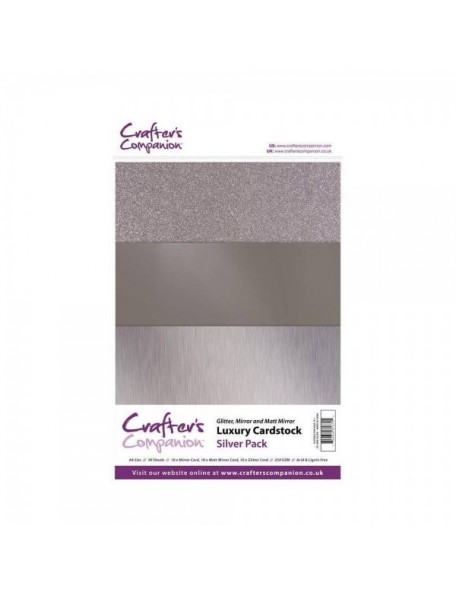 Crafter's Companion Silver Luxury Cardstock