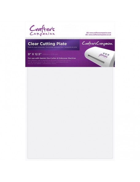 "Crafter's Companion Gemini Clear Cutting Plate 9""X12.5"""