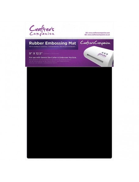 "Crafter's Companion Gemini Rubber Embossing Mat 9""X12.5"""