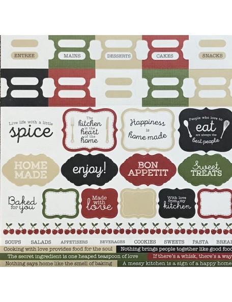 "Kaisercraft Bon Appetit Cardstock Stickers 12""X12"""