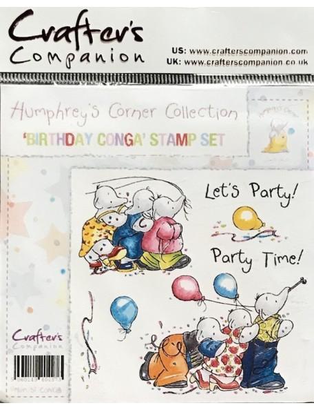 Crafter's Companion sello de caucho Birthday Conga'